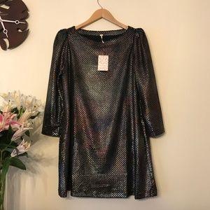 Free People Diamonds Are Forever Metallic Dress S